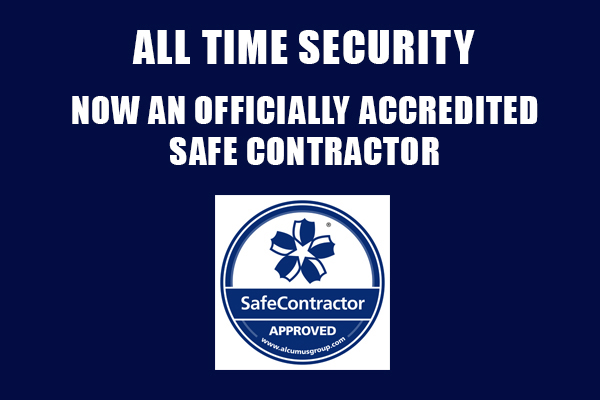 All Time Security is Now an Accredited Safe Contractor